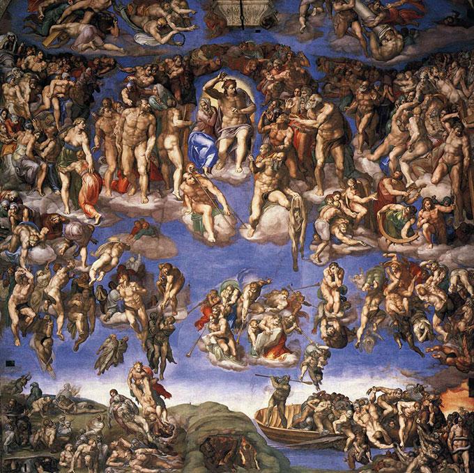 Le Jugement dernier de Michel-Ange, plafond de la chapelle Sixtine