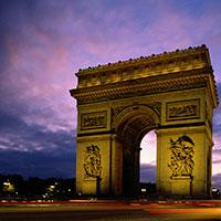 L'arc de Triomphe de la place de l'Étoile