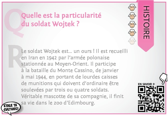 carte021 - Histoire - Quelle est la particularité du soldat Wojtek?
