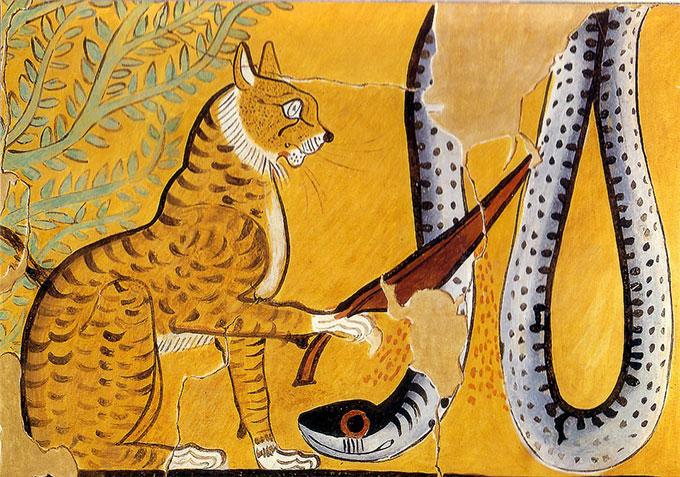 Chat de Rê décapitant Apophis