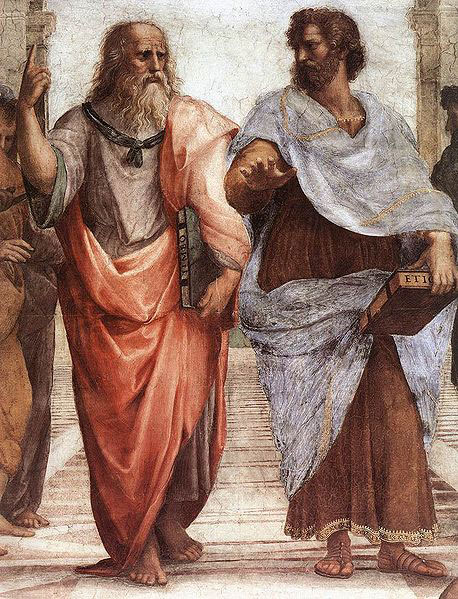 Extrait de l'école d'Athènes peint par Raphaël en 1509