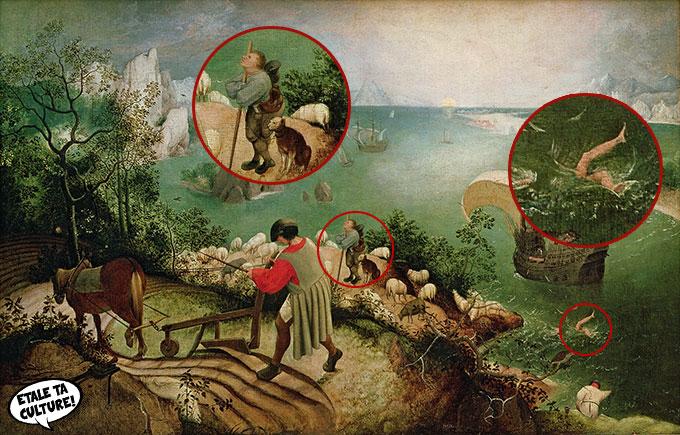 la-chute-icare-bruegel-annote