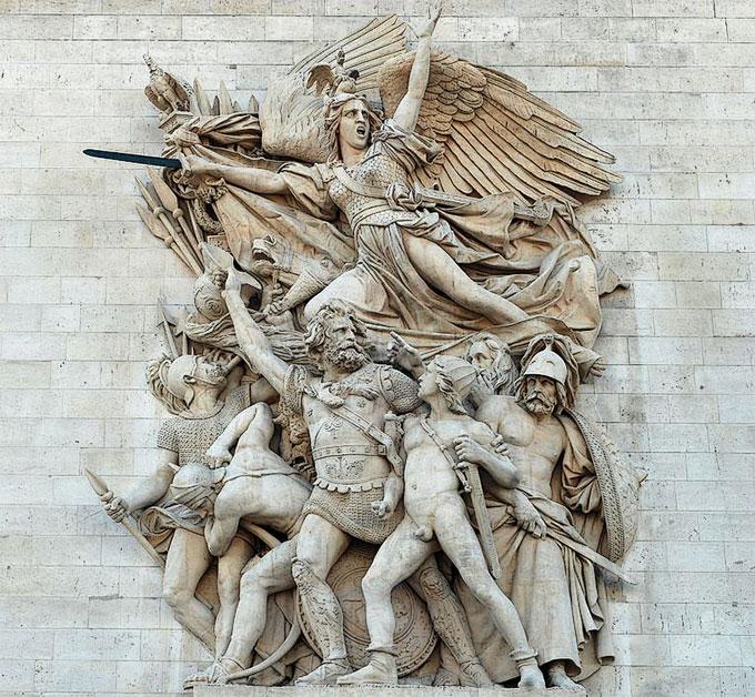 le Départ des volontaires de 1792, surnommé la Marseillaise, sculpté par François Rude