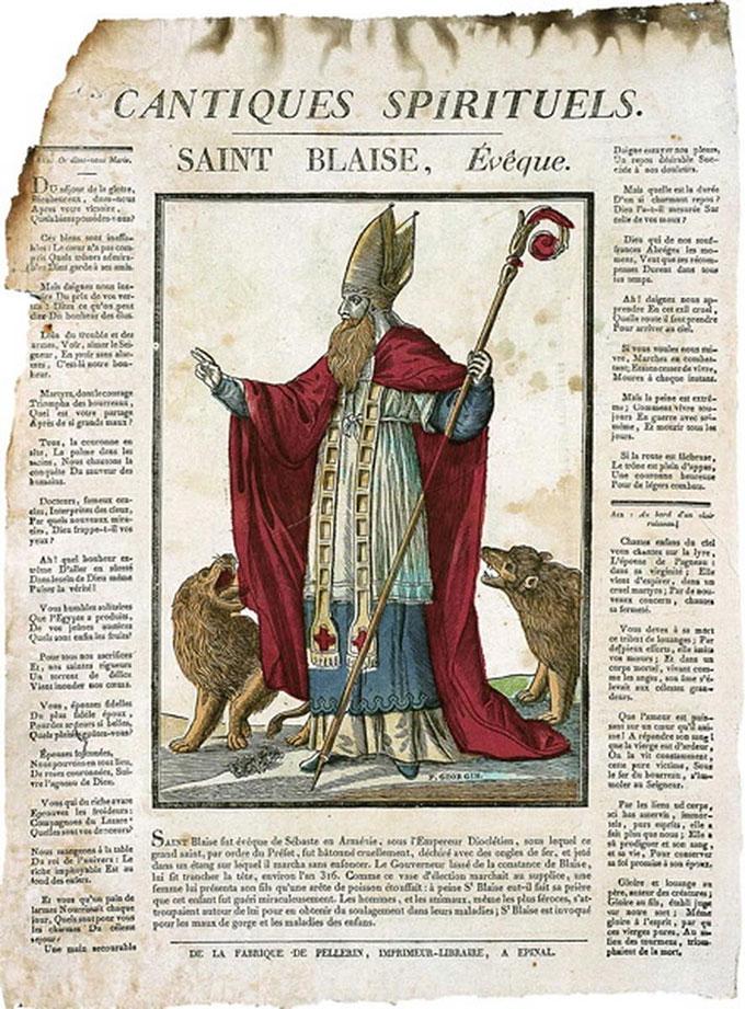 Saint Blaise attirant les animaux sauvages