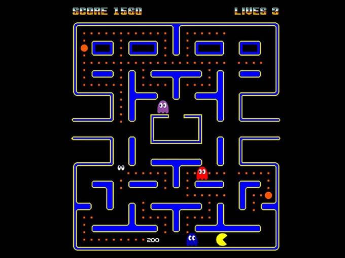 Tableau original du jeu, sorti en 1980 et édité par Namco