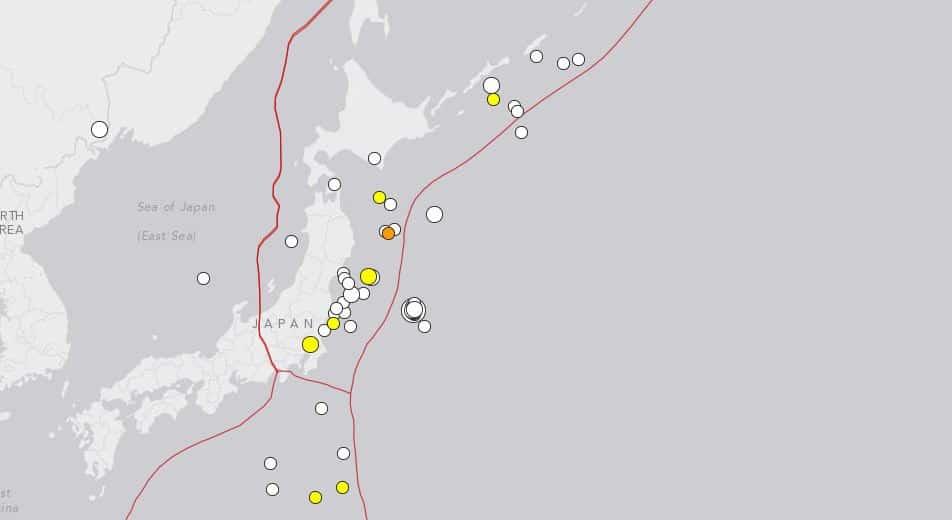 Les tremblements de terre des 30 derniers jours au Japon