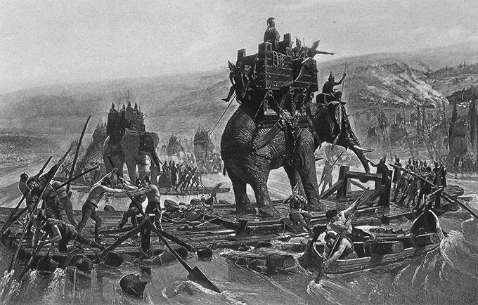 Traversée du Rhône par l'armée d'Hannibal