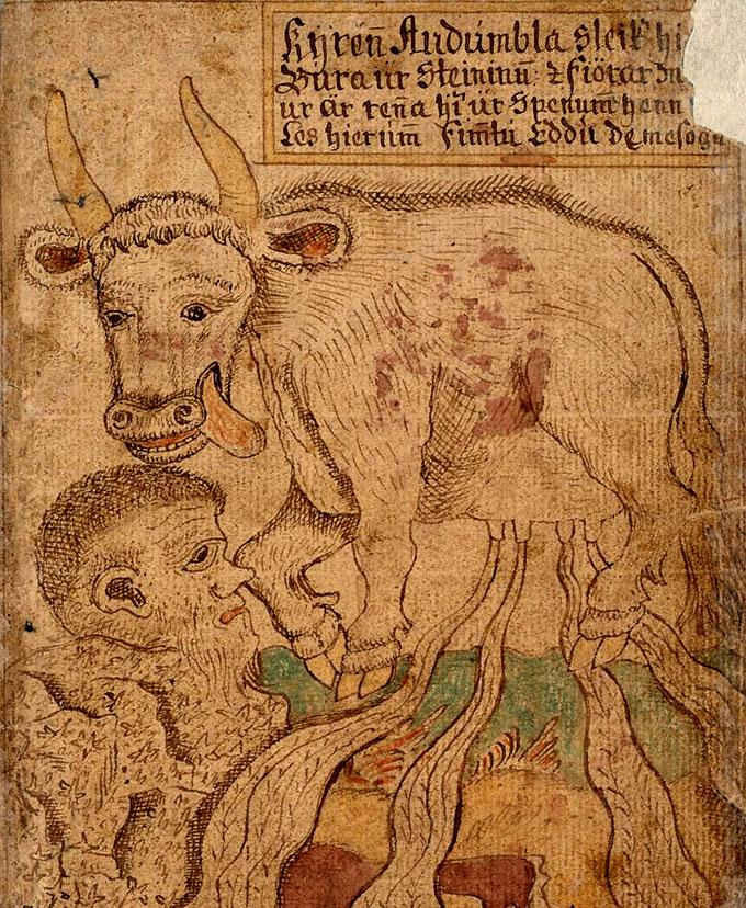 La vache primordiale Audhumla