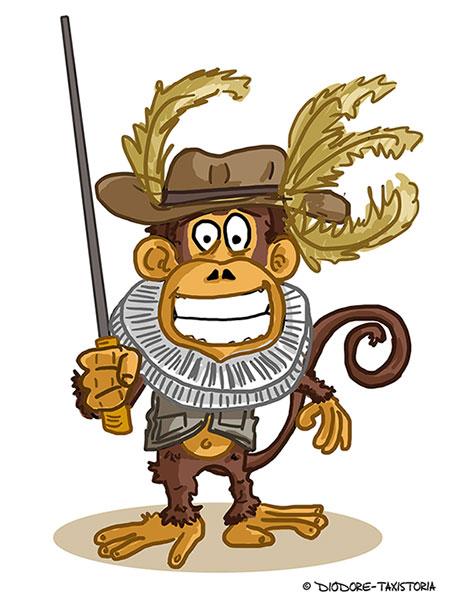Le singe Fagotin par Taxistoria