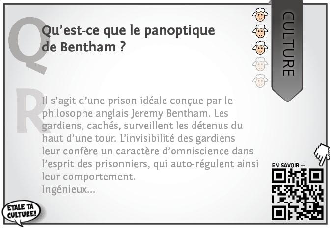 carte035 - Culture - Qu'est ce que le panoptique de Bentham
