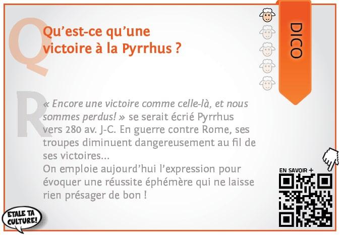 carte037 - Dico - qu'est qu'une victoire à la Pyrrhus