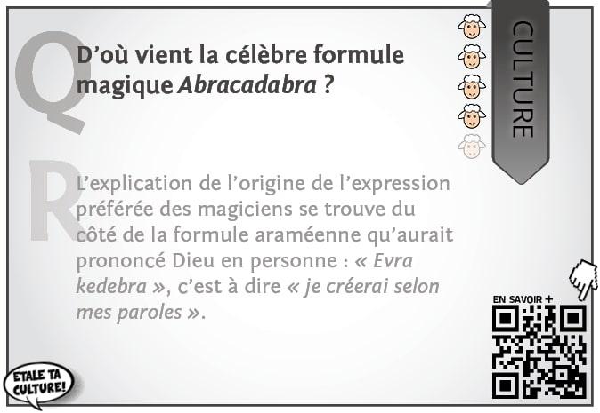 carte039 - Culture - D'ou vient la formule Abracadabra