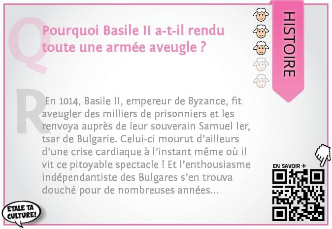 carte041 - Histoire - Pourquoi Basile II a-t-il rendu toute une armée aveugle