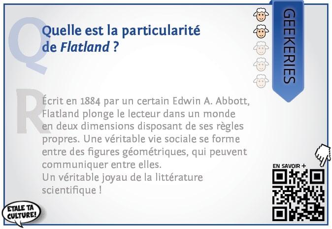 carte042 - Geekeries - Quelle est la particularité de Flatland