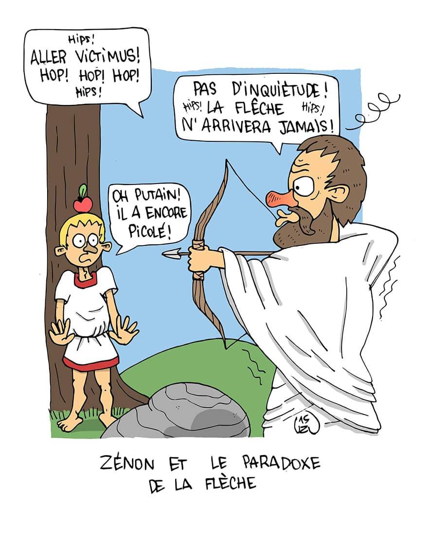 Zénon-et-le-paradoxe-de-la-flèche