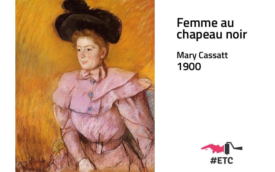 femme-au-chapeau-noir-mary-cassatt-1900