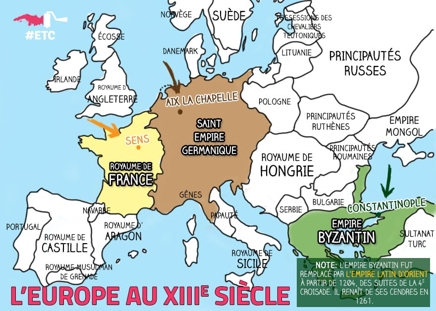 carte-europe-xiiie-siecle