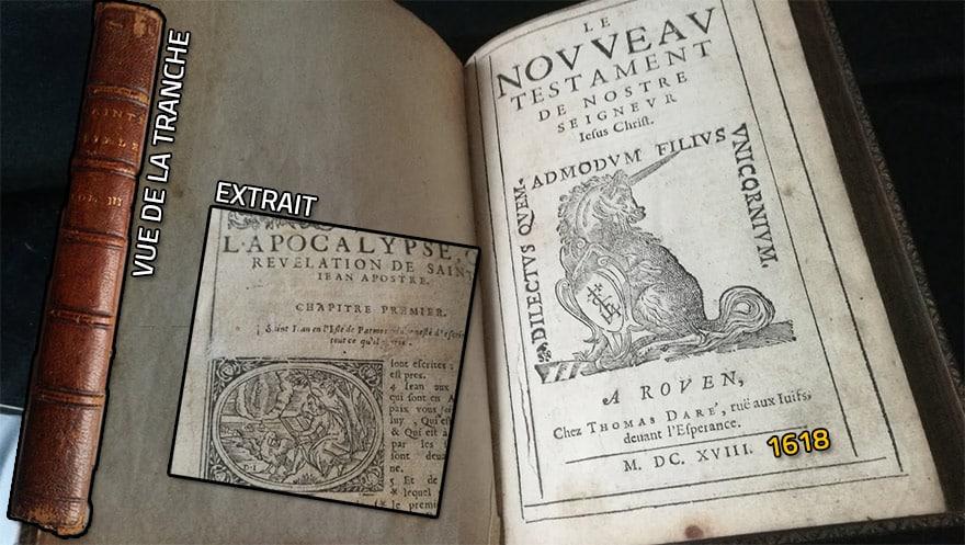 Y a-t-il là discernement porté par l'esprit de vérité attendu ? - Page 3 Bible-1618-licorne