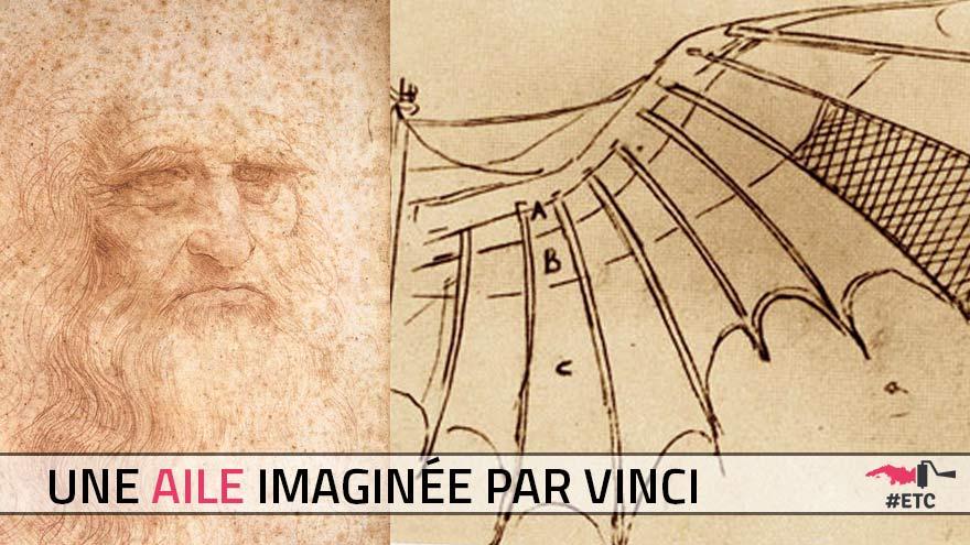 Une aile imaginée par Léonard de Vinci
