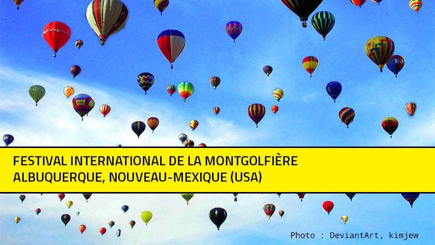 Des centaines de montgolfières dans le ciel au festival international d'Albuquerque (USA)