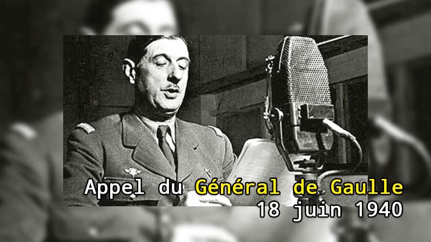 Appel du Général de Gaulle du 18 juin 1940 : le Général devant son micro - réaction à la Blitzkrieg allemande