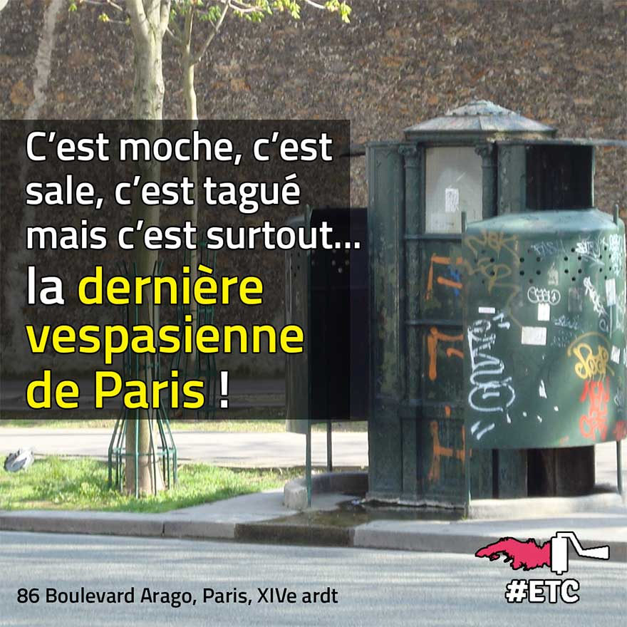 Dernière vespasienne à Paris