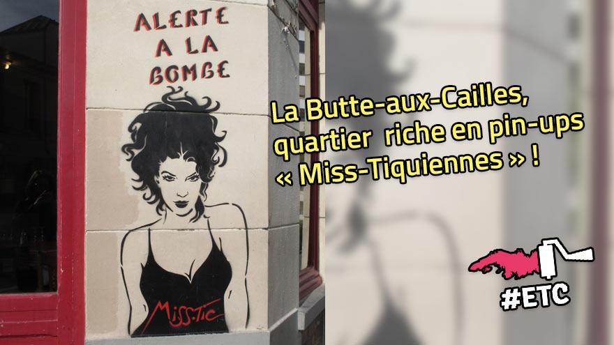 La Butte-aux-Cailles, riche en œuvres de street-art de Miss-Tic