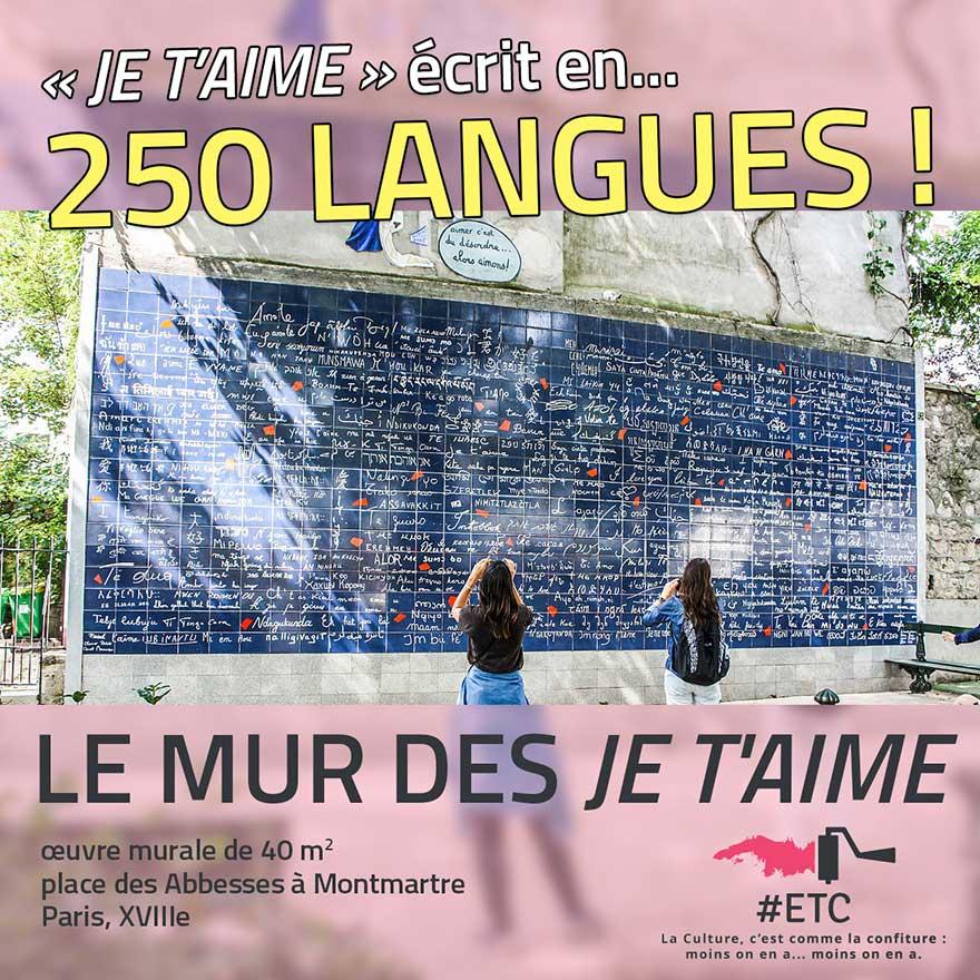 Le mur des Je t'aime à Paris