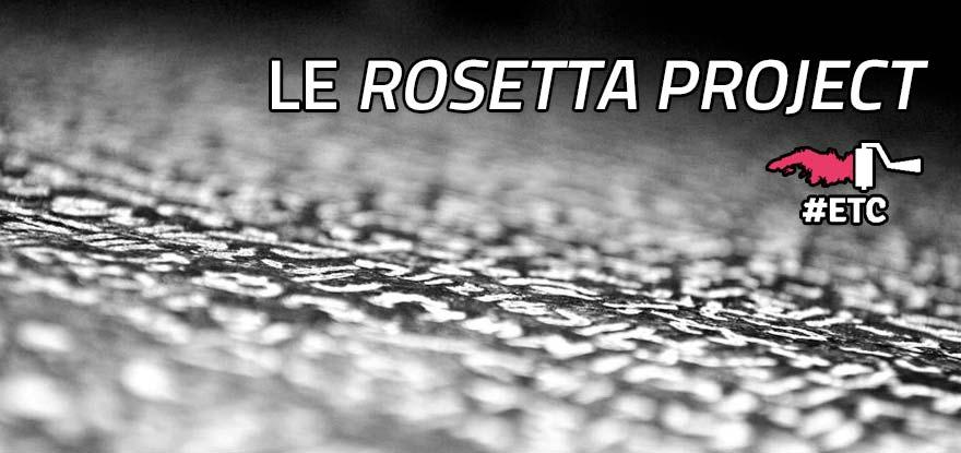 Le projet Rosetta