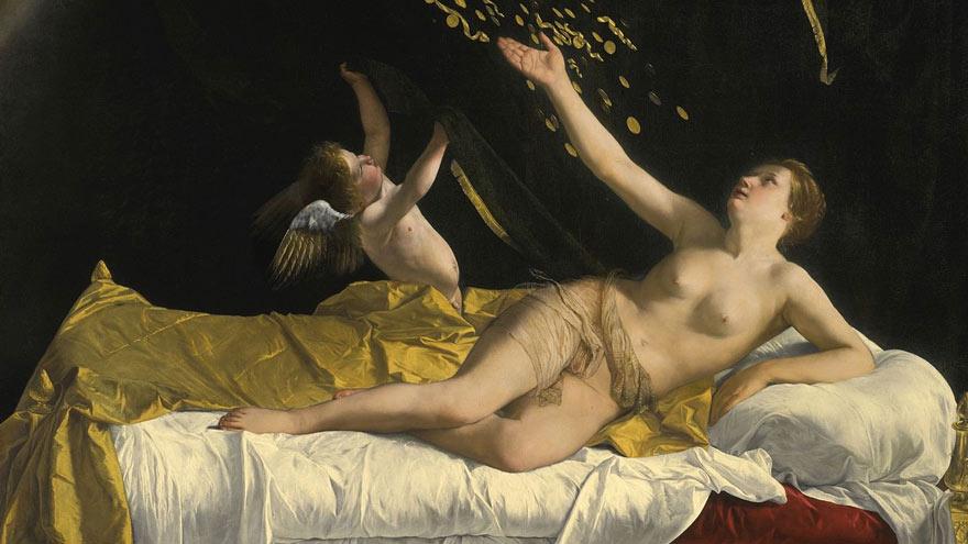 Danaé et la pluie d'or, Orazio Gentileschi (1563-1639)
