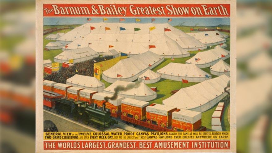 Le cirque Barnum, dans lequel évolua Fritz l'éléphant